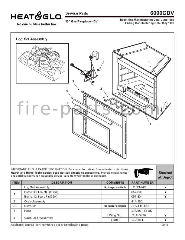 6000gdv Manual Fire Parts Com